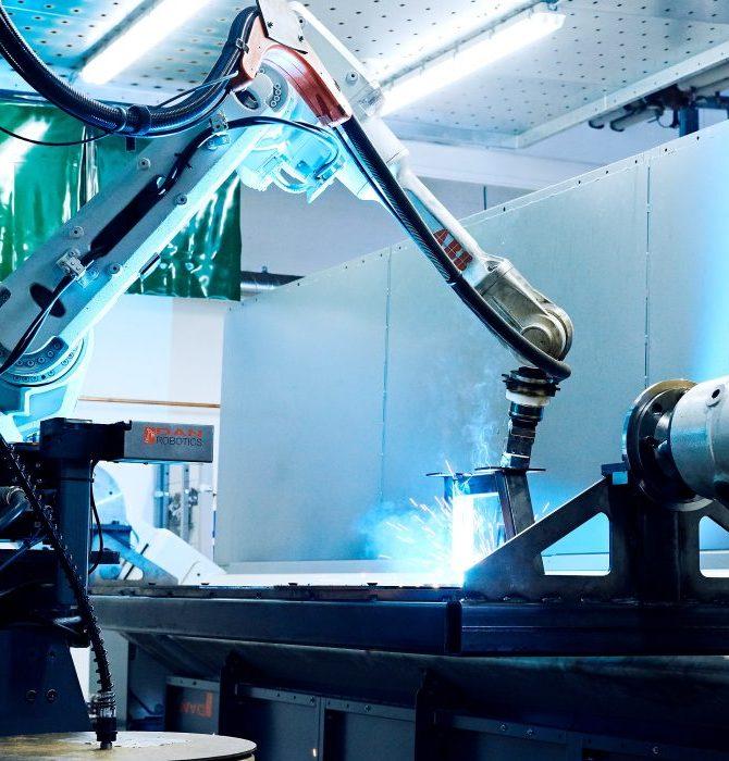 Svetsning av robot